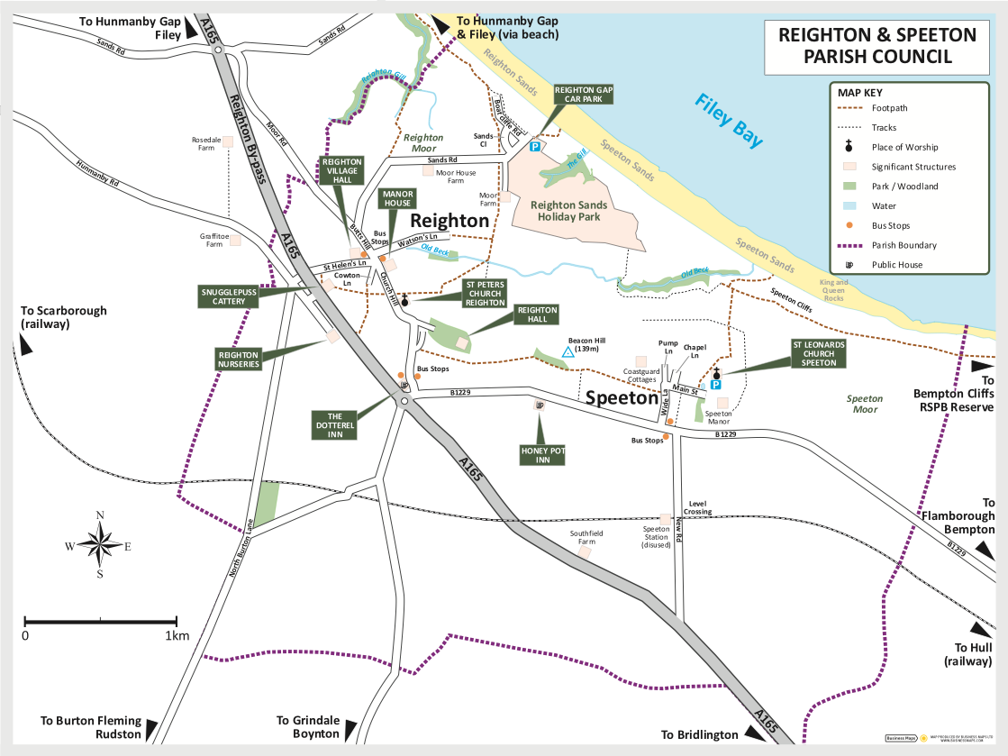Reighton and Speeton Villages Map