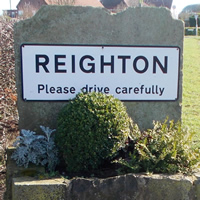 Reighton Road Sign