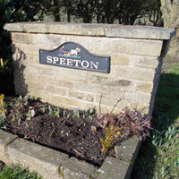 Speeton Road Sign
