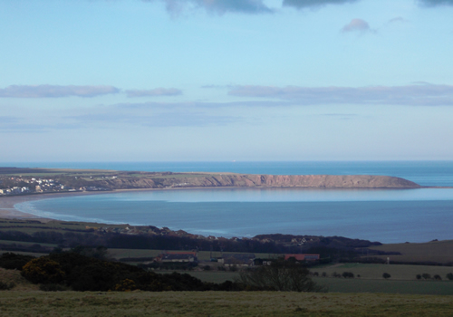 View Filey Bay from Reighton Hall grounds