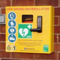 Defibrillator at Reighton Village Hall