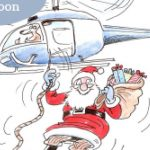 Santa on Helicopter