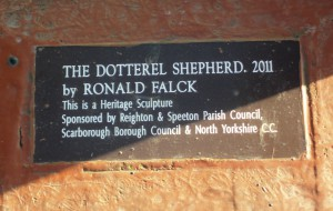 Plaque at Roundabout